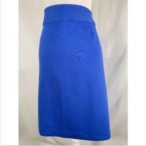 Lane Bryant womens skirt plus size 22 blue pencil
